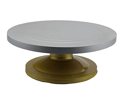 Buy Happy Chef Acrylic Cake Stand Revolving Server 12 Inch Silver