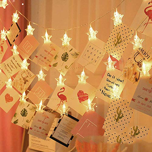 CITRA Waterproof LED String 16 Star Clips Fairy Twinkle Diwali Party Christmas Home Decor Festivals Lights for…