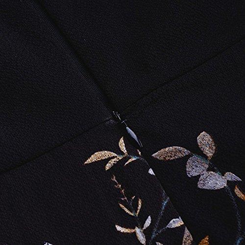 Imprim longue Robe Casual Sur Floral t Maxi Lonshell de Soire l'paule Marine Robe Femmes 0gTnPUXU