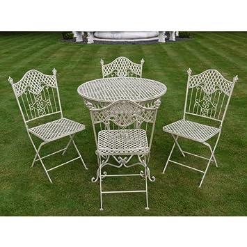 shabby chic antique cream garden furniture wrought iron patio set
