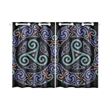 InterestPrint Blackout Window Curtains Celtic Mandala Room Bedroom Home Short Drapes Curtains 52X39 Inch Review