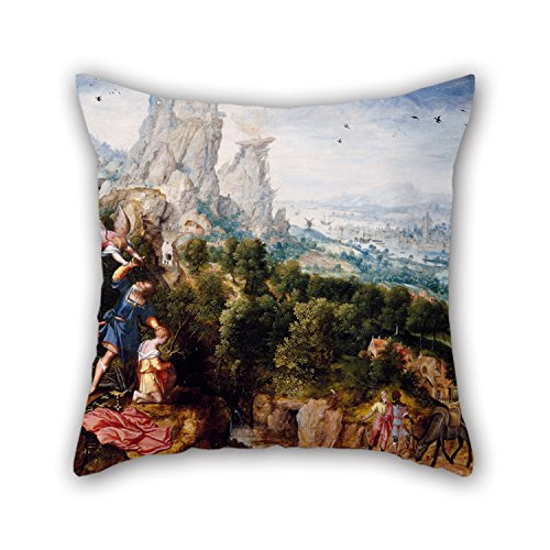 [The Oil Painting Herri Met De Bles - Landscape With The Offering Of Isaac Pillow Cases Of ,20 X 20 Inches / 50 By 50 Cm Decoration,gift For Bedroom,pub,car Seat,bedroom,drawing Room,her (each] (Six Million Dollar Man Costume)