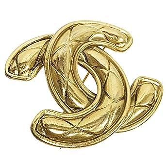 c640eb23336ffd CHANEL(シャネル) ブローチ マトラッセ ココマーク ピンブローチ GP ゴールド色 CHANEL CC ヴィンテージ