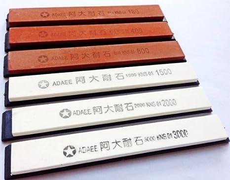 Set de 6 cuchillos Piedras de afilar piedra de afilar piedra de afilar