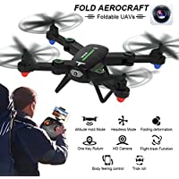 Leewa F16 2.4G 4CH Altitude Hold 2.0MP HD Camera WIFI FPV RC Quadcopter Drone Selfie Foldable -Black