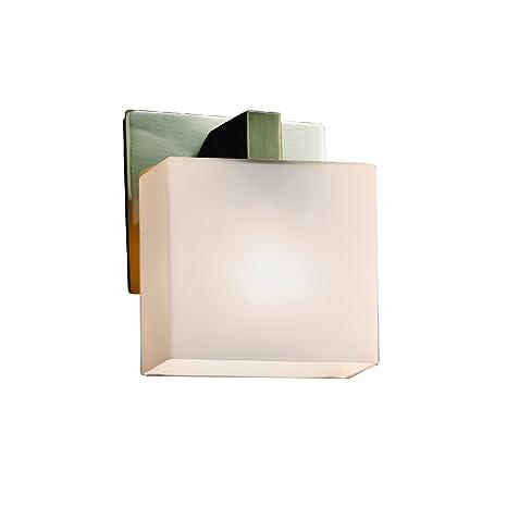 Justice Design Group Lighting FSN-8931-55-OPAL-NCKL-LED1-700 Modular ADA 1 Rectangle LED Light Bracket Oval Shade Brushed Nickel