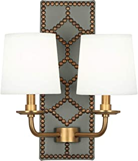 product image for Robert Abbey 1034 Williamsburg Lightfoot - Two Light Wall Sconce, Choose Finish: Aged Brass