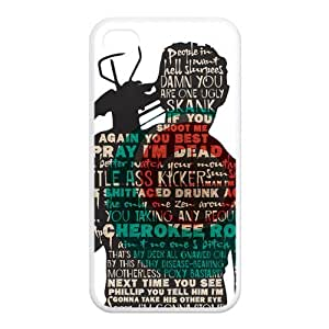 iPhone 4s Case,iPhone 4 Case, The Walking Dead Series Pattern Hard Back Cover Snap on iPhone 4 / IPhone 4s,Apple IPhone 4s cover Skin