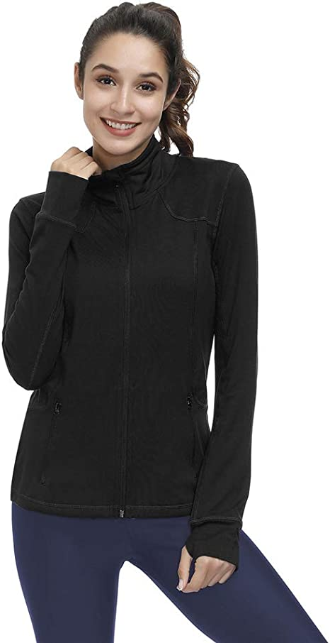 Tailloday Womans Active Yoga Running Sweatshirt Fitness Compression Long Sleeve T-Shirt Hooded Jacket