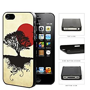 Asian Sunrise Nature And Earth Silhouette Hard Plastic Snap On Cell Phone Case Apple iPhone 4 4s