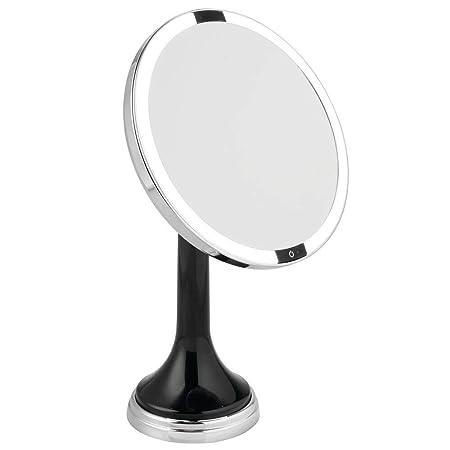 mDesign Espejo de tocador de baño con luz LED con Sensor de ...