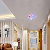 Cheap Modern LED Crystal Chandelier Aisle Ceiling Lighting Round Pendant Lamp Balcony Light (Colorful Light)
