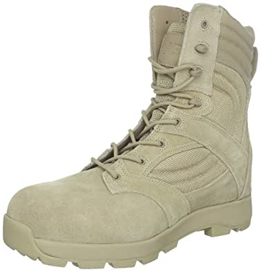 New Balance Tactical Men's Tab 8-Inch Safety Zip Boot Work Boot,Tan,6 2E US