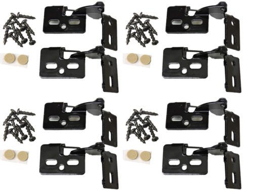 Gloss Black Nylon Frame (8 YOUNGDALE #6 Black Gloss 1/2 Overlay 5/8-1
