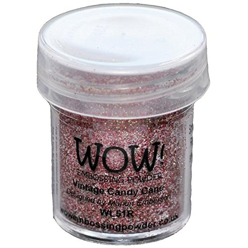 Wow Embossing Powder WOW-WS51R, 15ml, Vintage Candy Cane ()