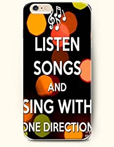 Case with the Design of listen songs and sing with one direction Case Cover For SamSung Galaxy S4 Mini (2014) Verizon, AT&T Sprint, T-mobile