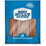 Best Bully Sticks Premium 6-inch Thin Bully Sticks, All-Natural, Free-Range, Grass-Fed Beef Dog Treat Chews, 24 Pack