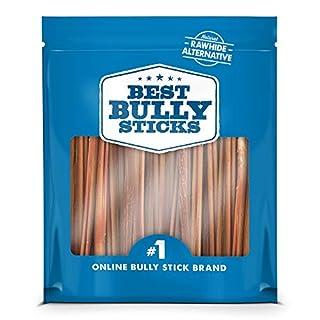 Best Bully Sticks Premium 6-Inch Thin Bully Sticks (24 Pack) - All-Natural, Free-Range, Grass-Fed Beef Dog Treat Chews