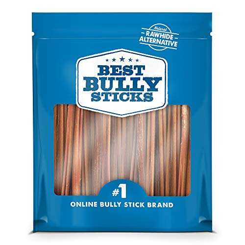 Best Bully Sticks Premium 6-Inch Thin Bully Sticks (24 Pack) - All-Natural, Free-Range, Grass-Fed Beef Dog Treat Chews ()