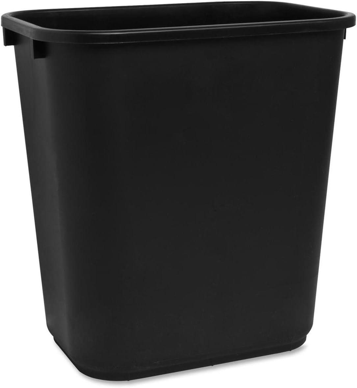 Sparco Rectangular 7 Gal. Black Wastebasket: Office Products