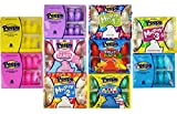 Marshmallow Peeps Candy Chicks Super Variety Pack, Easter Collection: Yellow, Pink, Cotton Candy, Party Cake, Fruit Punch, Blue, Purple, Mystery Flavors 1, 2 & 3 - Perfect Basket Filler - 10 Pack
