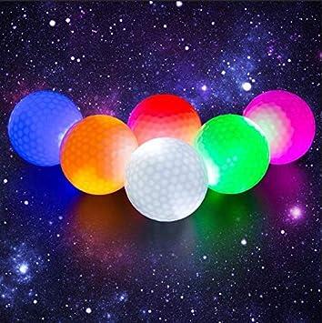 Crestgolf 6 Piezas LED Iluminado Pelotas de Golf Noche Pelota de ...