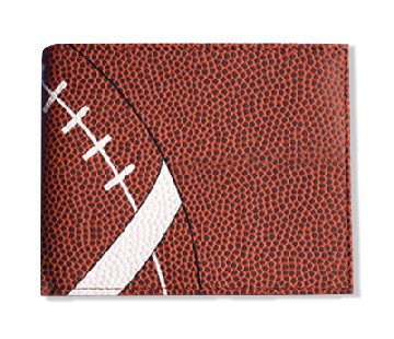 Textured Football Mens Wallet - Bi Fold with card and ID slots