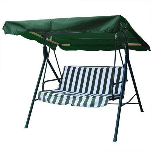 Green Color Polyester Fabric 6¼ Foot 75 x 52 Inch Outdoor Patio Swing Canopy Replacement Top Cover UV Block Sun Shade Waterproof for Porch Garden Furniture Chair
