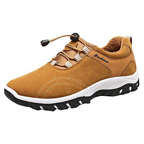 Randonnée Homme Basses Homme Marche Randonnée Chaussures Fourrure Jaune Respirant Chaussures de f4qA77Y8