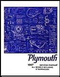 1967 Plymouth Barracuda Belvedere Fury GTX Satellite Sport Fury Suburban Factory Service Manual