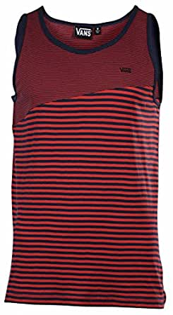Vans Mens Striped Classic Mixed Tank Top Red