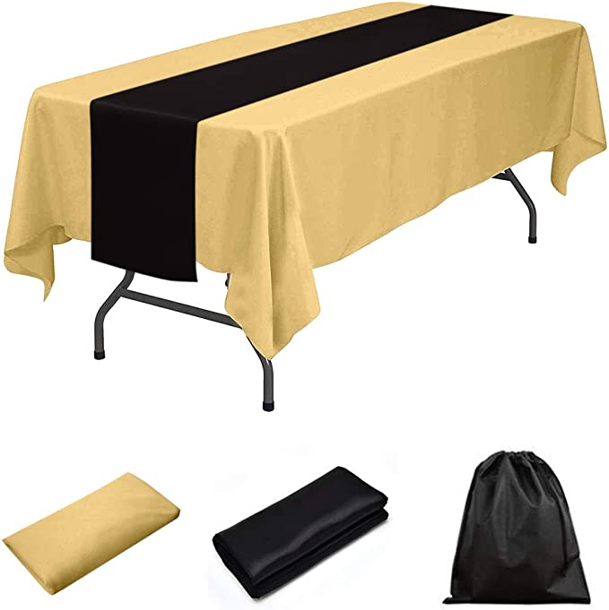 """10 pc 60/""""x102/"""" Rectangular Tablecloth Fabric Linen Cloth Dinner Wedding Banquet"""