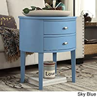 iNSPIRE Q Bold Aldine 2-drawer Oval Wood Accent Table Deals