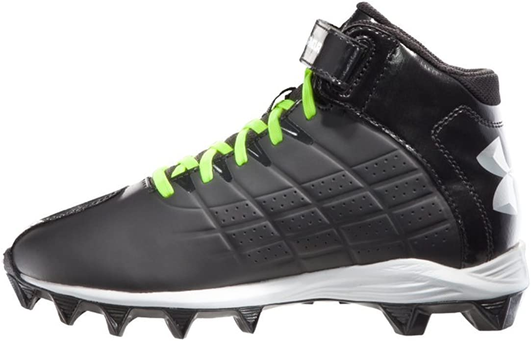 Crusher Mid Football Cleat Black Size
