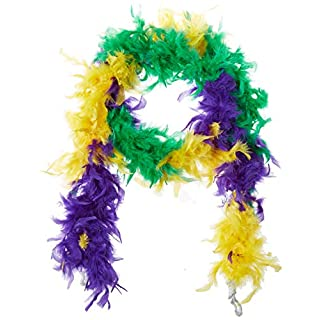 Amscan 255432 Mardi Gras Feather Boa, 1ct