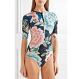 FidgetFidget Swimsuit One Piece Bathing Suit Bikini Monokini Swimwear Women Long Sleve Zipper