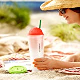 Starbucks® Chiseled Ombre Cold Cup - Coral, 24 fl oz