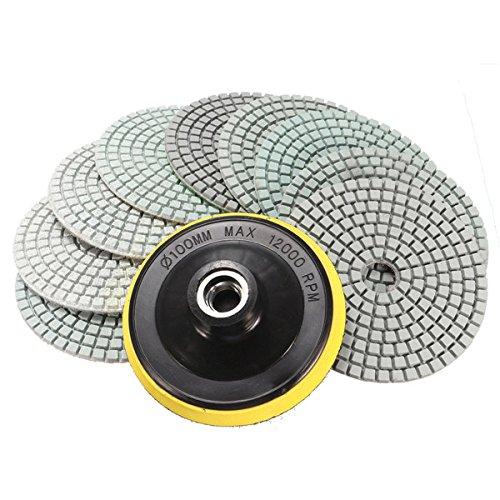 KUNSE 10Pcs 4 inch 50 /À 6000 Grit Diamond Tampons /À Polir pour Le Marbre De Granit