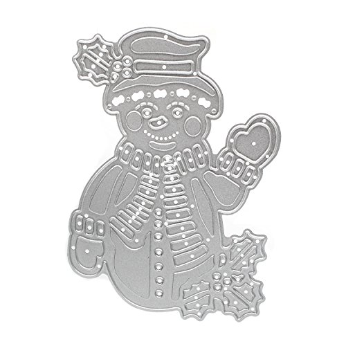 Snowman Cutting Dies Stencils for DIY Scrapbook Album Paper Cards Decorative Scrapbooking Die Cut(Snowman)