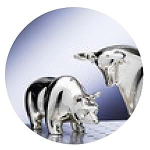 alfombrilla de ratón Bull and Bear, figuras de plata - ronda - 20cm