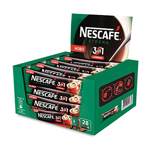 Nescafe 3 in 1 Strong 28 packets x 18g European Import! (Import 1)