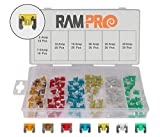 RamPro 120-Pc Car Truck Boat Fuses Assortment Kit - 5, 7.5, 10, 15, 20, 25, 30 AMP – Low Profile Mini Small APS/ATT Blade Fuses