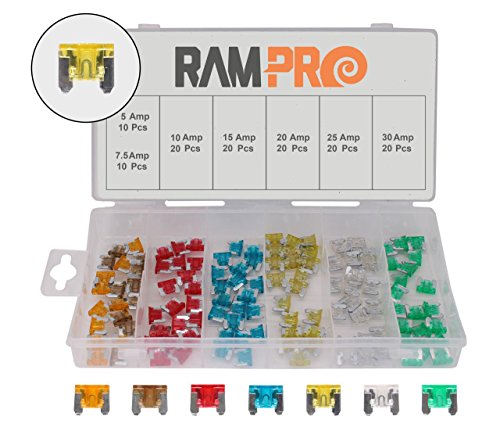 rampro-120-pc-car-truck-boat-fuses-assortment-kit-5-75-10-15-20-25-30-amp-low-profile-mini-small-aps