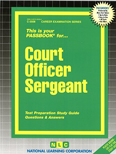 Pdf Test Preparation Court Officer Sergeant(Passbooks) (Career Examination Passbooks)