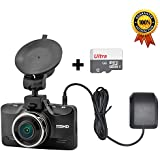 OldShark 2K Ultra HD Dash Cam with GPS, 178 Wide Angle Car Camera Dashboard Video Recorder with ADAS SOS Parking Guard G-Sensor Loop Recording Night Vision Ambarella Chip (32GB SD Card Included)