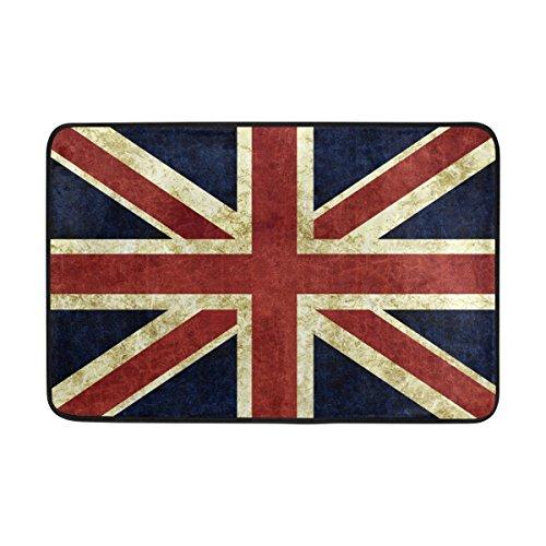- ALAZA Vintage Union Jack Doormat Indoor Outdoor Entrance Floor Door Mat Bathroom 23.6 x 15.7 inch