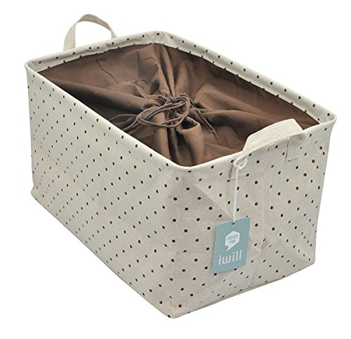 Drawstring Closure for Dust-proof, Storage Box with Handles,