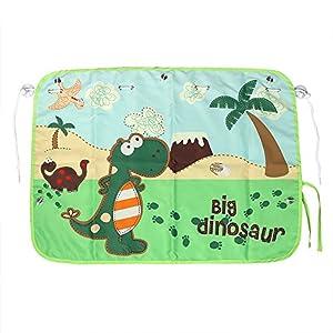 "MAPLE AND MANGOES Cute Big Dinosaur Baby/Toddler Best Car Backseat Window Full (20"" x 27.5"") Sun Shade Curtain Blinds"