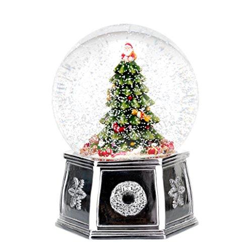 Spode Christmas Tree Musical Tree Snow Globe, Large