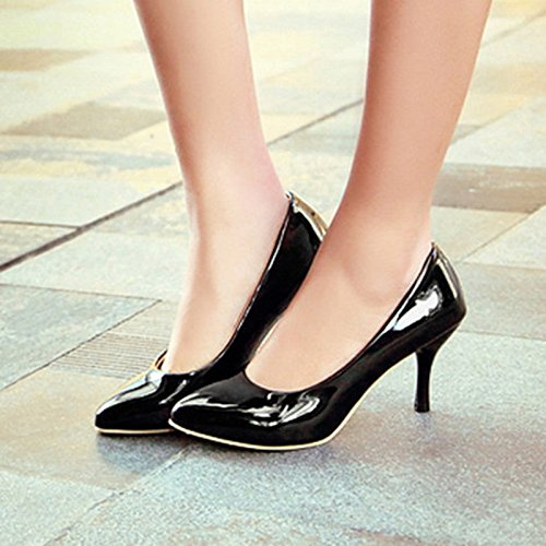 Meotina Women High Heels Pointed Toe Pumps 4 j2HS5Xx